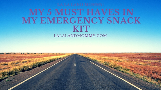 My 5 Must Haves In My Emergency Snack Kit